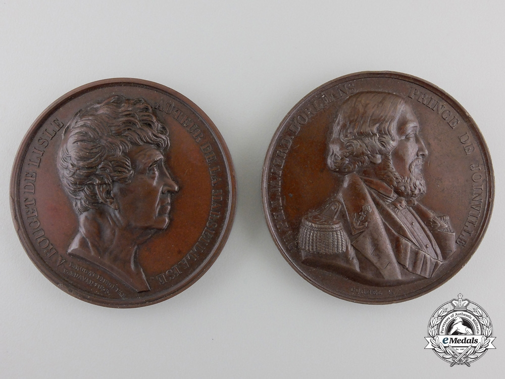 eMedals-Two French Commemorative Table Medals c.1835