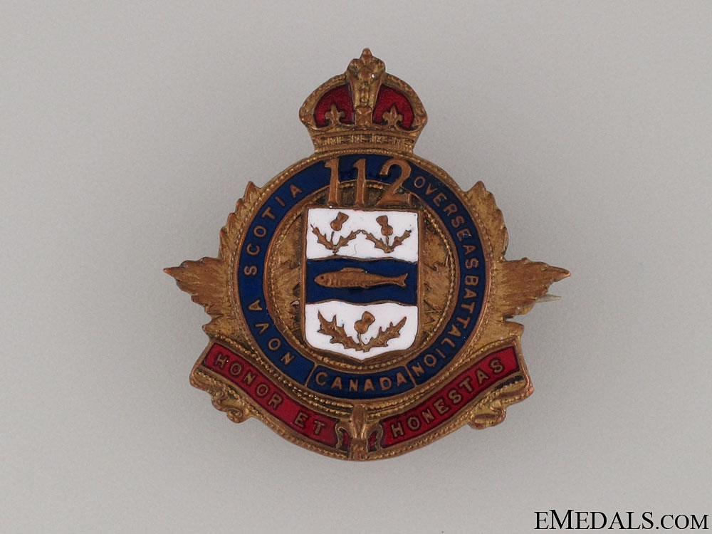 eMedals-112th Infantry Battalion Sweetheart Pin CEF