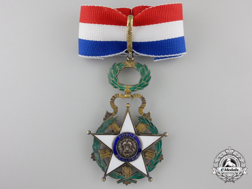eMedals-A National Order of Merit of Paraguay; Commander