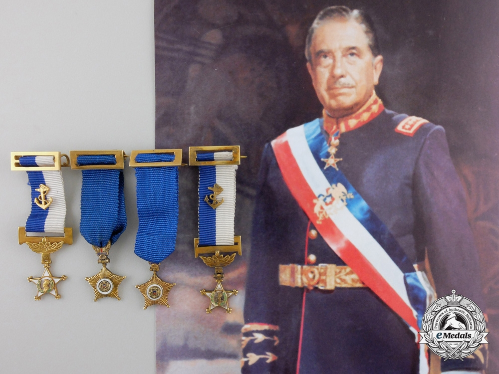 eMedals-Four Gold Miniature Awards from the Estate of General Pinochet