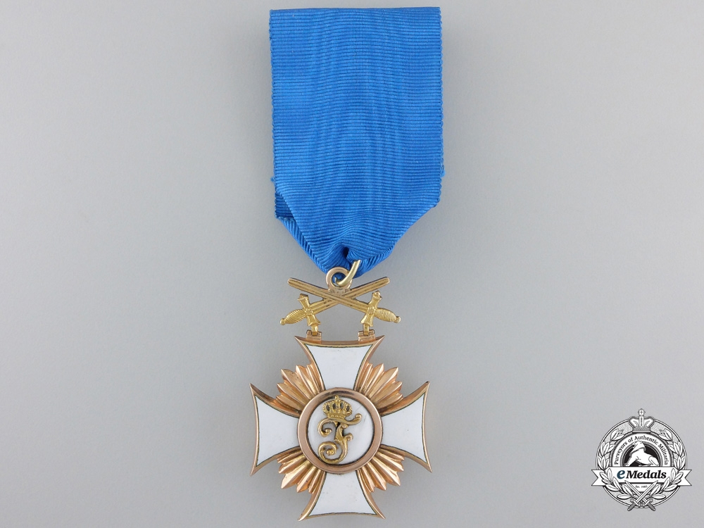 eMedals-A Wurttemberg Friedrich Order with Swords; 1st Class in Gold