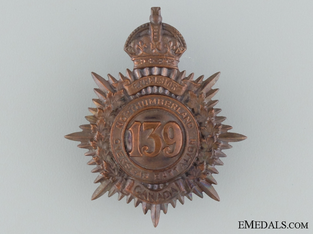 eMedals-139th Northumberland Overseas Infantry Cap Badge CEF