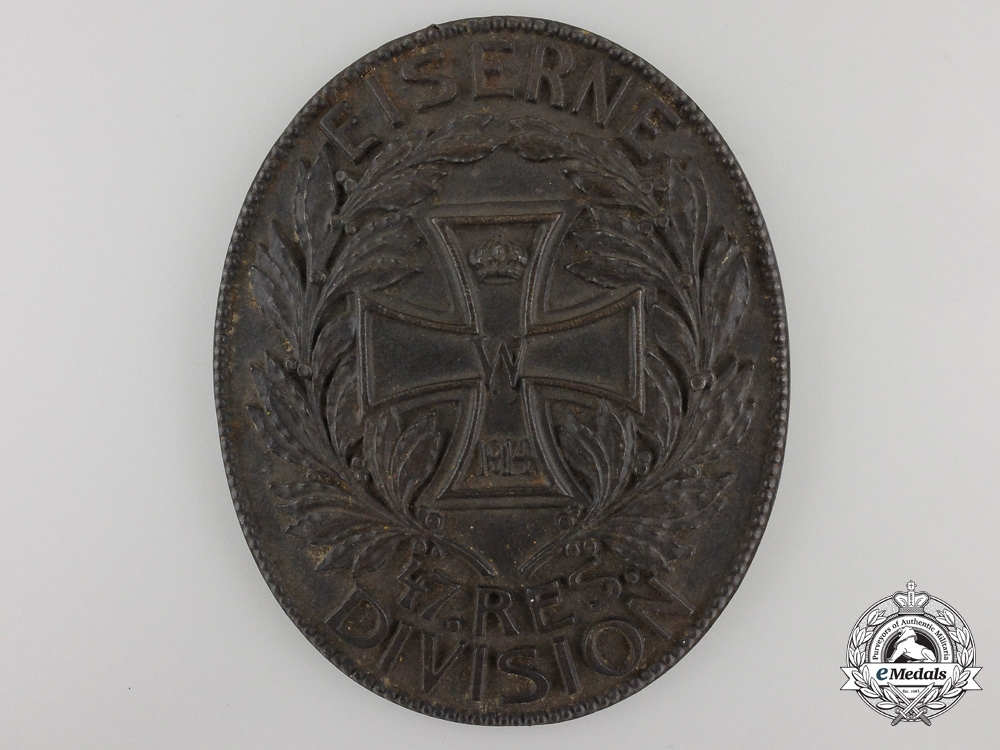 "eMedals-A First World War ""Iron 47th Reserve Division"" Plaque"