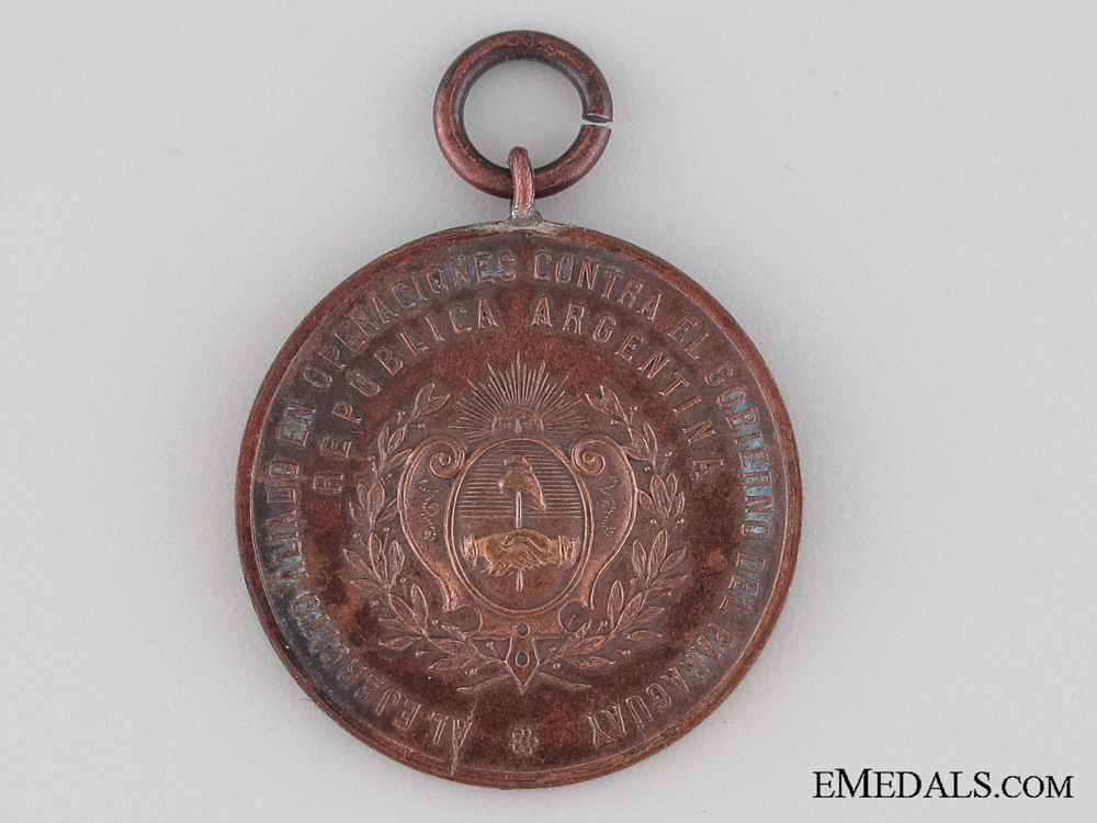 eMedals-1865 Medal for Allies in Paraguayan War