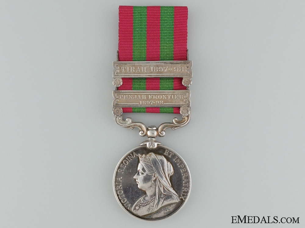eMedals-1895-1902 India General Service Medal to Pte. W. Heatle