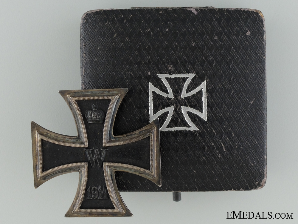 eMedals-1914 Iron Cross First Class; Marked K.A.G; Cased