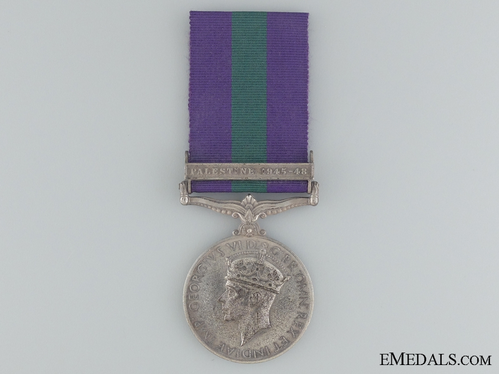 eMedals-1918-1962 General Service Medal to Pte. T. Sethunts