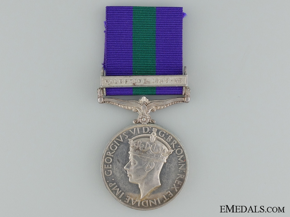eMedals-1918-1962 General Service Medal to PTE. T.Manyele