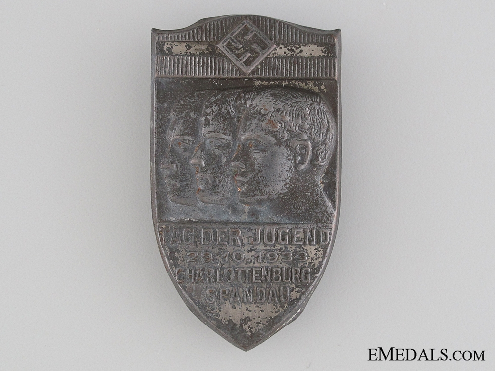 eMedals-1933 German Youth Day Tinnie