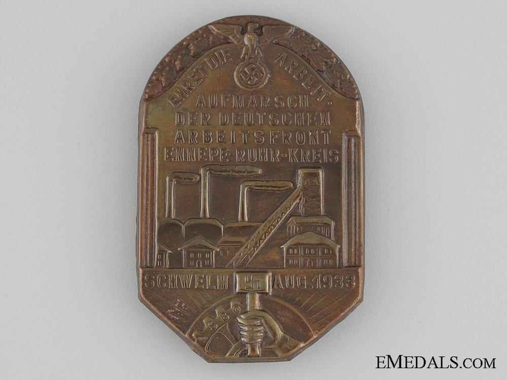 eMedals-1933 NSBO Honour the Worker Tinnie