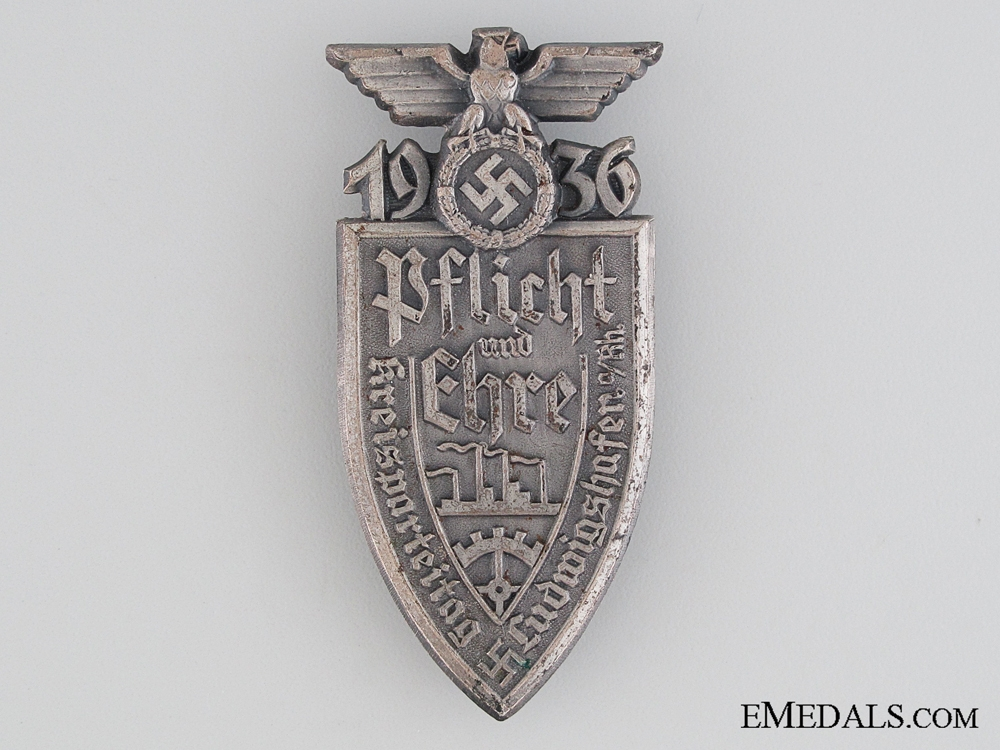 eMedals-1936 Duty and Honour Tinnie