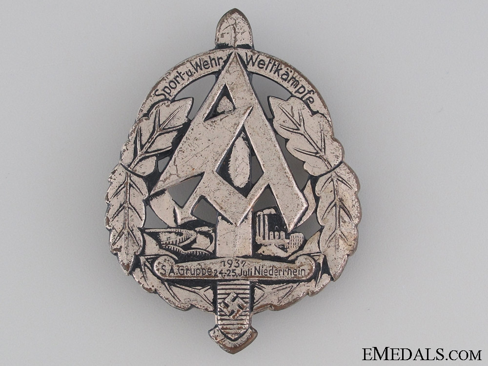 eMedals-1937 SA Sports Day Badge