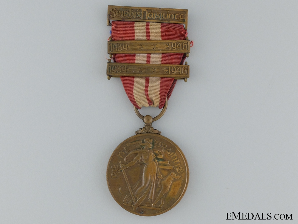 eMedals-1939-1946 Irish Emergency Service Medal with 2 Bars