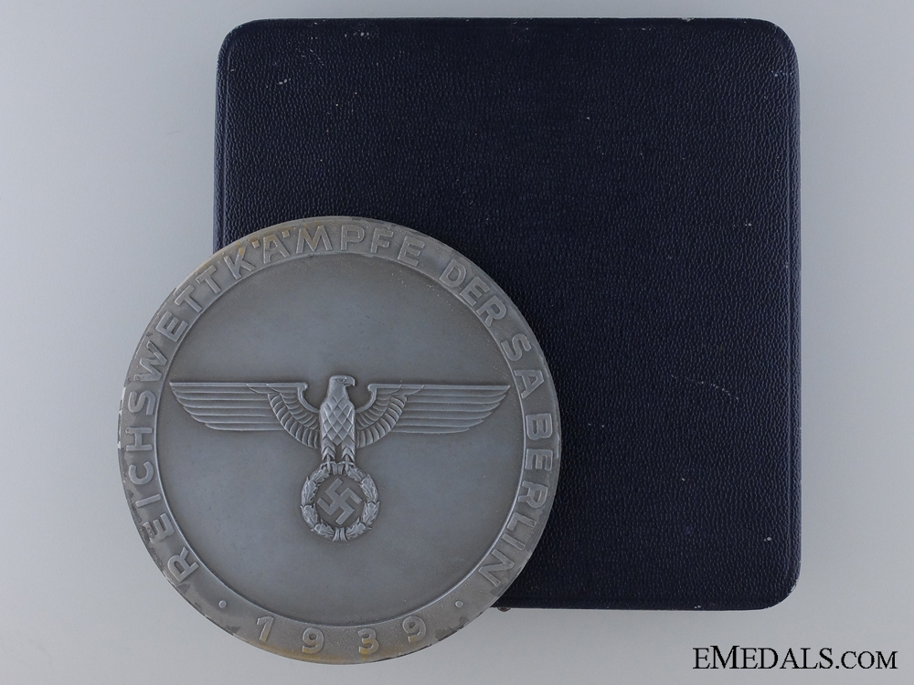 eMedals-1939 SA Sport Competitions 3rd Place Finisher's Table Medal