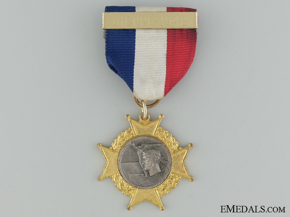 eMedals-1942-72 30th Anniversary of Dieppe Medal