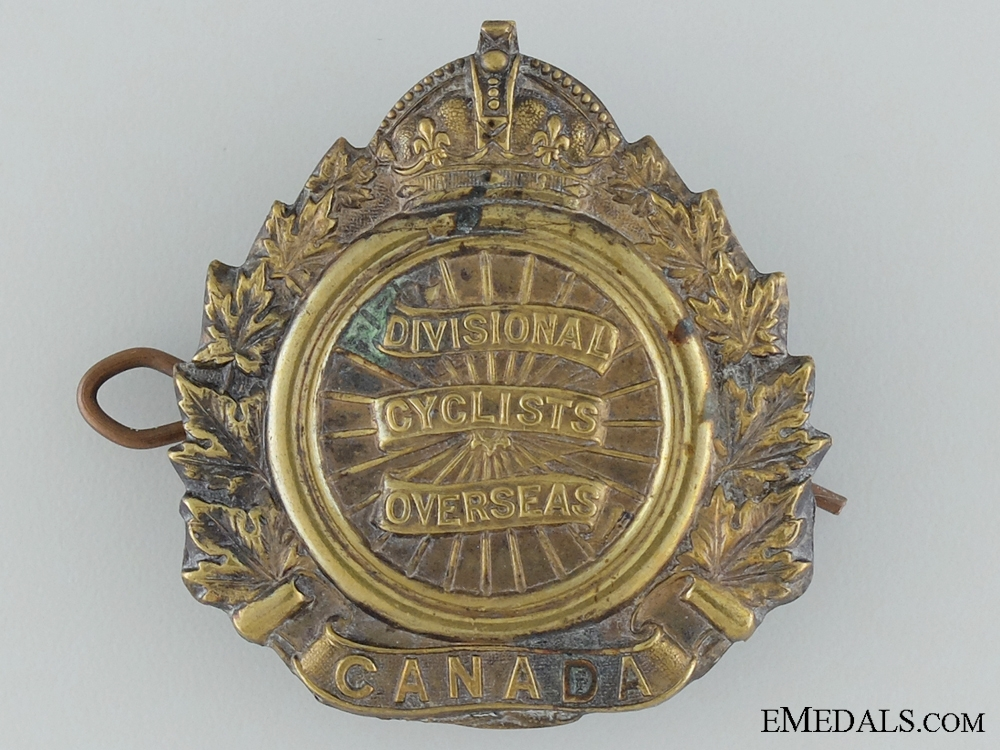 eMedals-1st Canadian Divisional Cyclists Corps Cap Badge