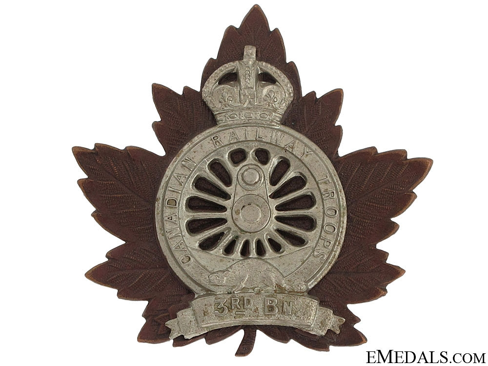 eMedals-3rd Canadian Railway Troops Cap Badge