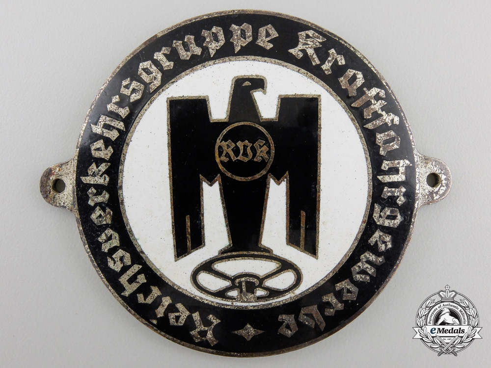 eMedals-AGerman Heavy Truck Drivers Badge c.1935