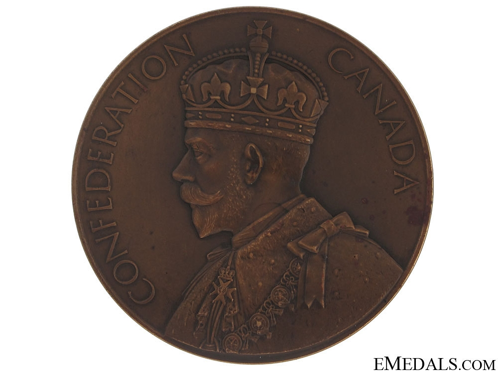 eMedals-60th Anniversary of Confederation Commemorative Table Medal