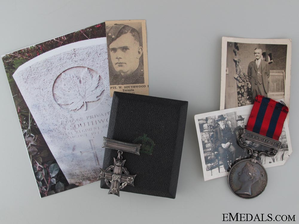eMedals-A Dieppe Casualty Memorial Cross & Family IGS Medal