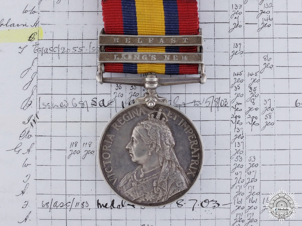 eMedals-A Queen's South Africa Medal to Private Charles Connon