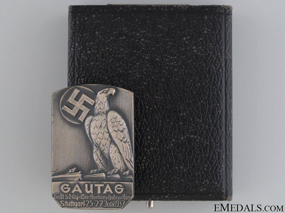 eMedals-Silver (950) Gautag Badge in Cased