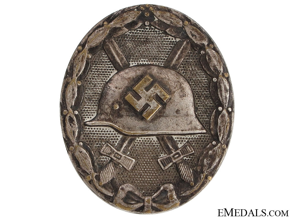 eMedals-Wound Badge - Silver Grade, tombac