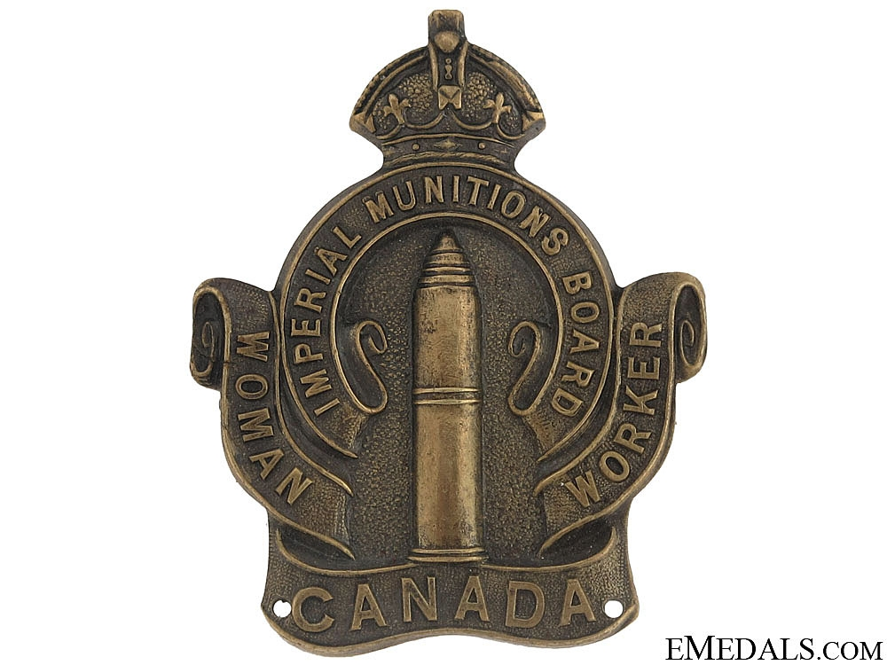 eMedals-WWI Imperial Munitions Board Woman Worker Badge