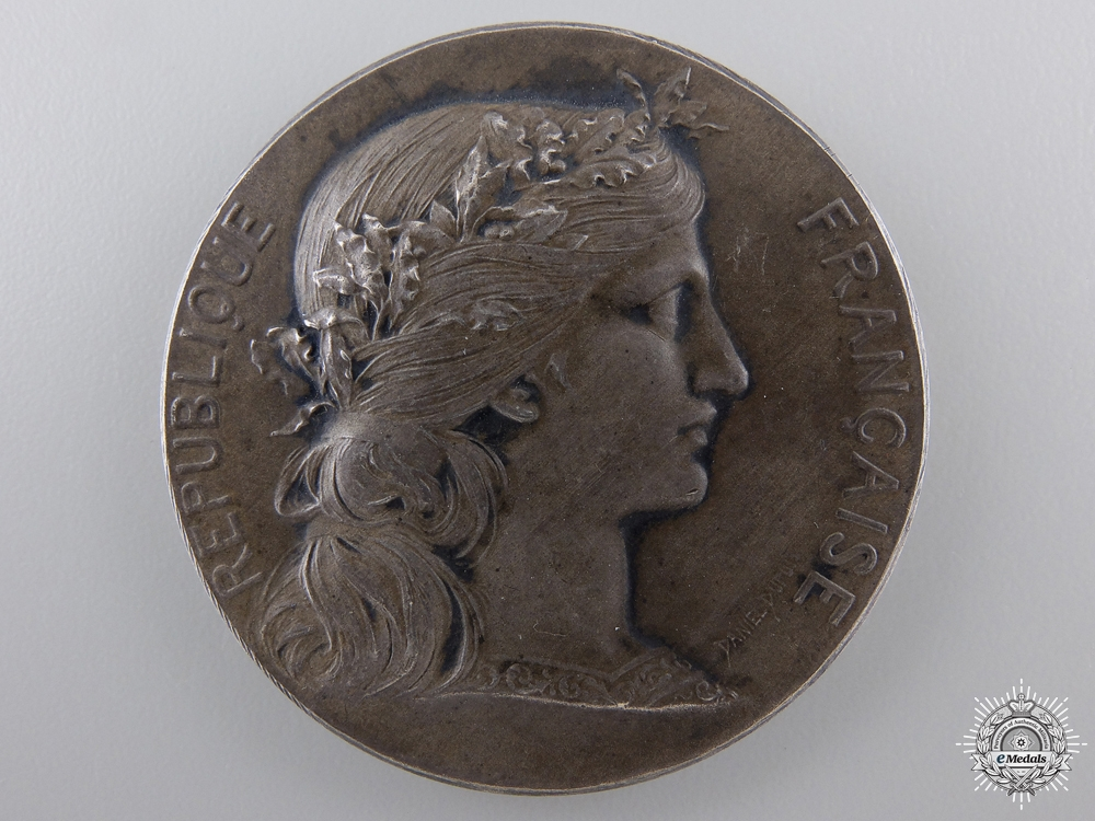 eMedals-A 11927 French Minister of War Award Medal; Silver Grade