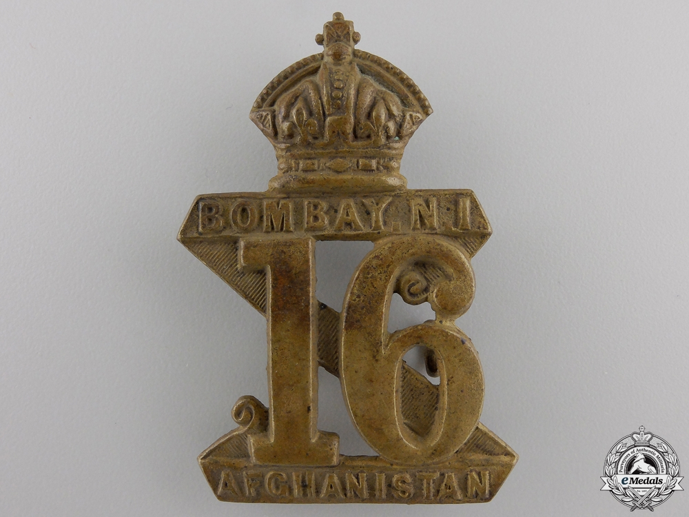 eMedals-A 16th Indian Regiment Cap Badge