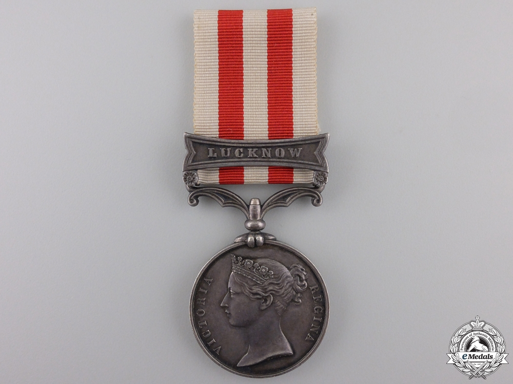 eMedals-A 1857-58 India Mutiny Medal to the 13th Light Inf. Regiment of Ft  Con #41