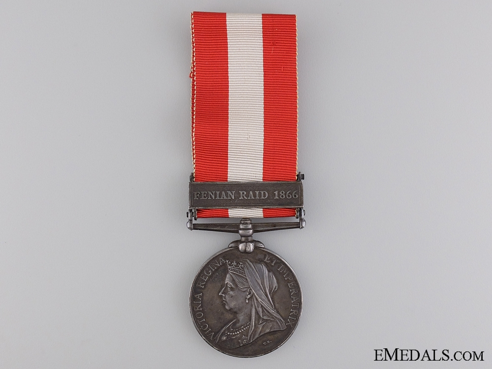 eMedals-A 1866 Canada General Service Medal for the Battle of Fort Erie