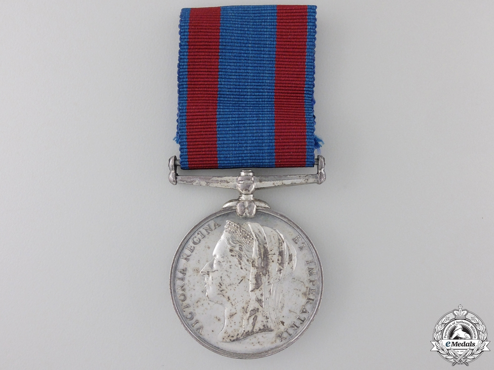 eMedals-A 1885 North West Canada Medal to the 95th Manitoba Grenadiers  Con #41