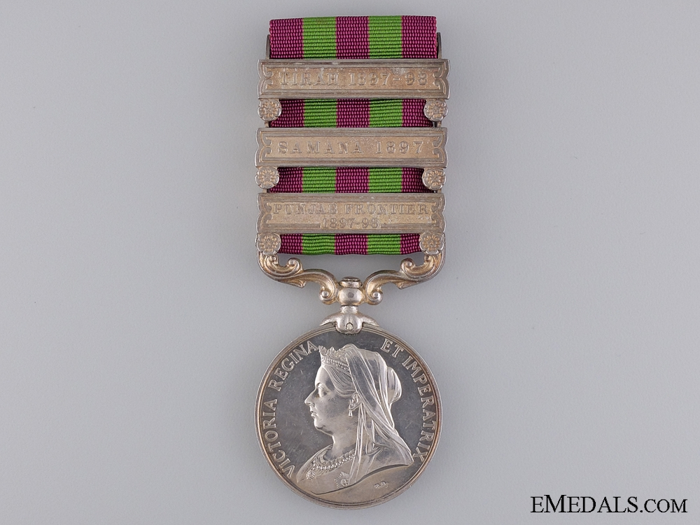 eMedals-A 1895-1902 India General Service Medal to 21st Madras Pioneers