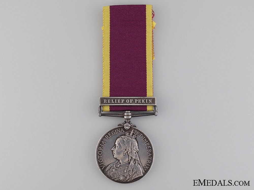eMedals-A 1900 China War Medal to the 1st Sikhs Infantry