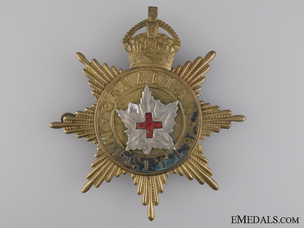 eMedals-A 1908 Canadian Army Medical Corps Helmet Plate