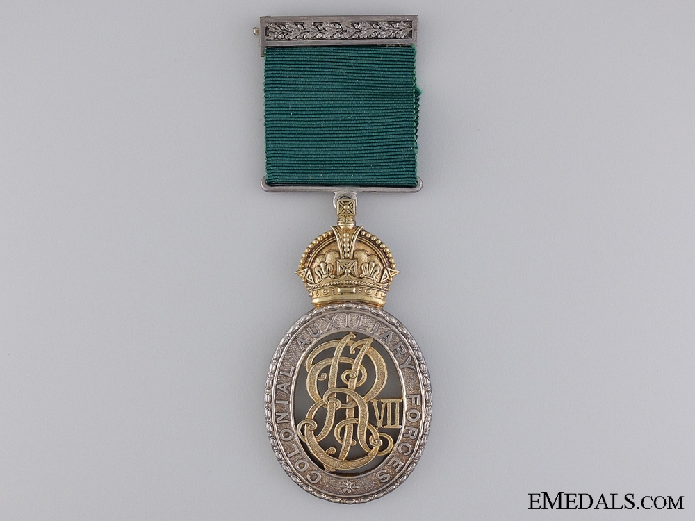 eMedals-A 1909 Edward VII Colonial Auxiliary Forces Officers Decoration