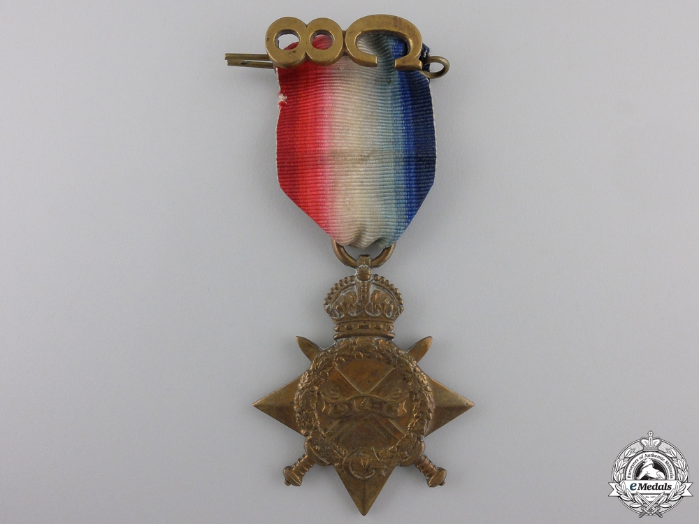 """eMedals-A 1914-15 Star to the """"Little Black Devils"""""""