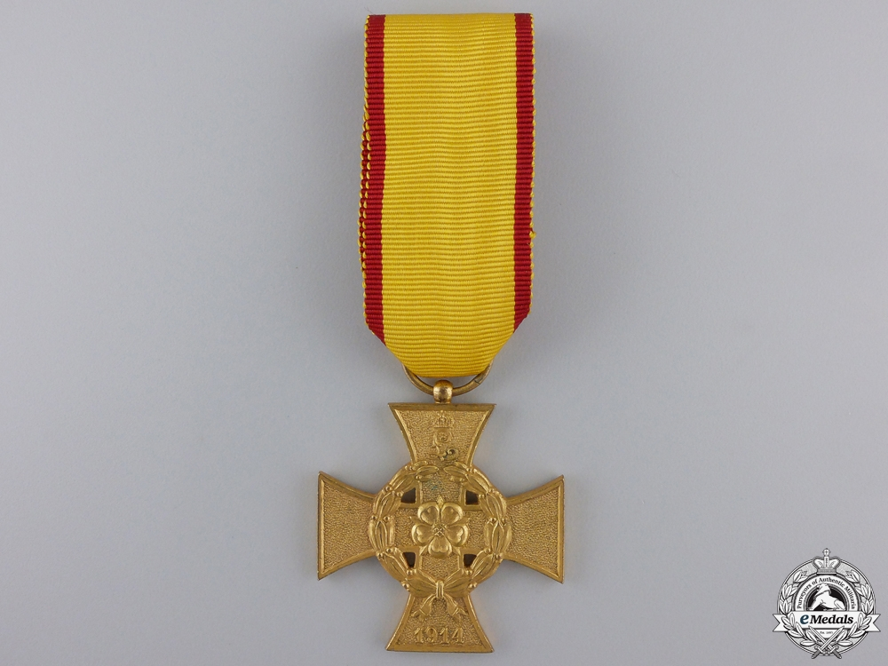 eMedals-A 1914-1918 Lippe-Detmold War Merit Cross; Second Class