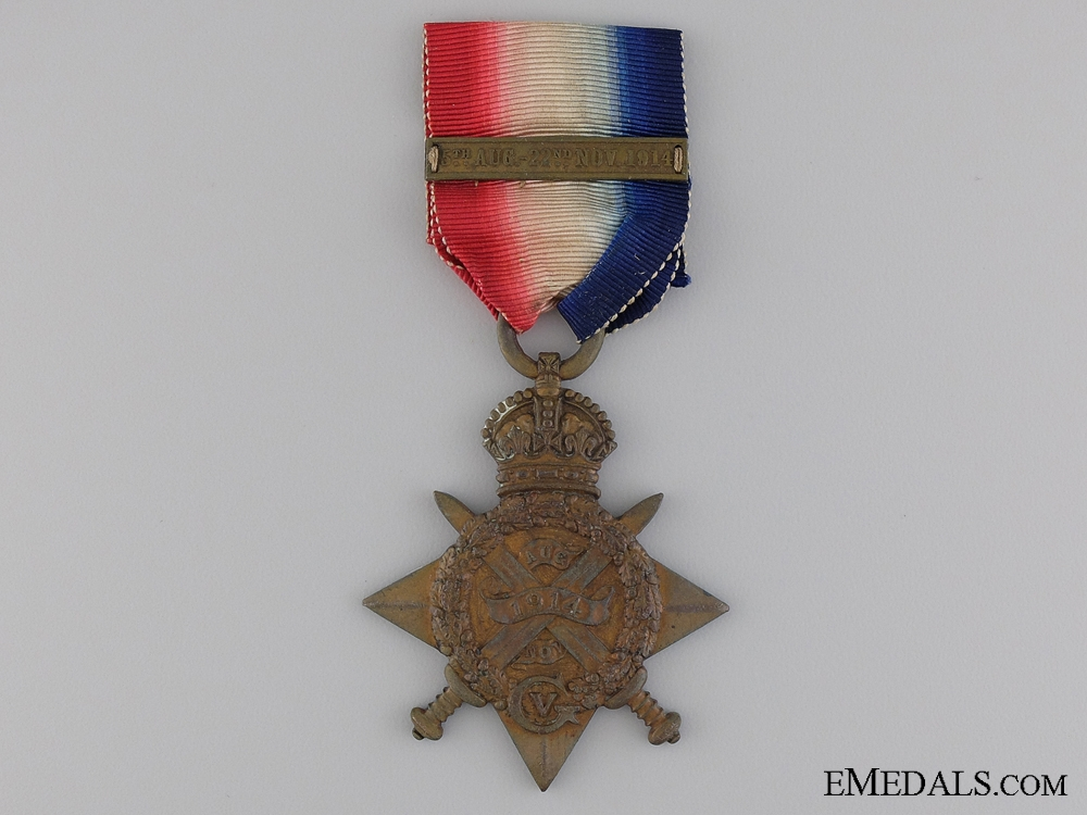eMedals-A 1914 Mons Star with Bar to the Royal Marine Brigade