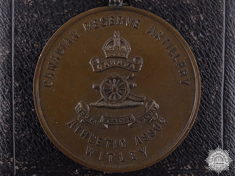 eMedals-A 1916 Canadian Reserve Artillery Athletic Association Medal