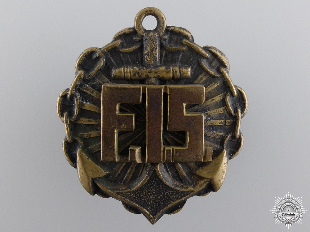 eMedals-A 1920-30 Latvian Naval Instructor Badge