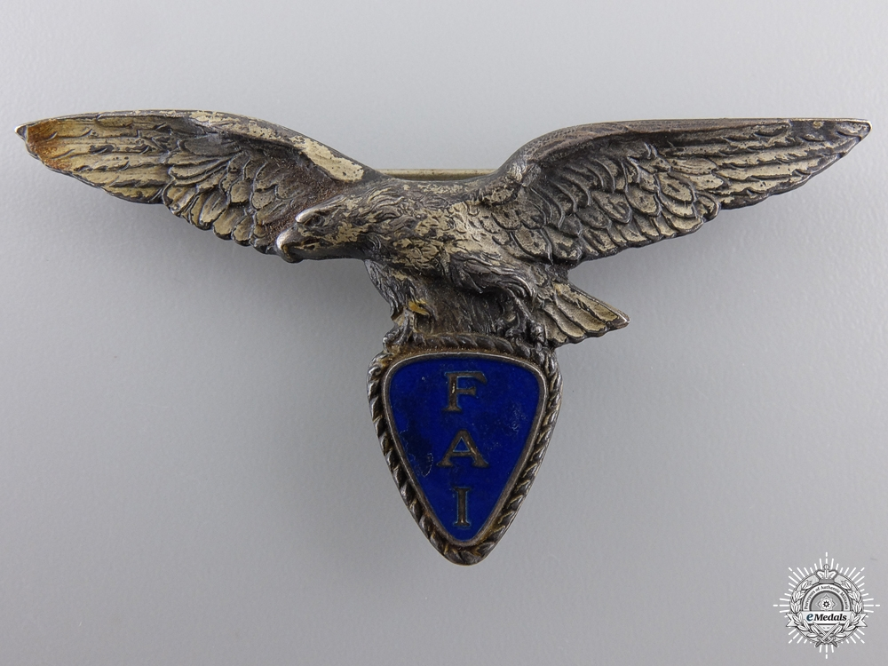 eMedals-A 1920's French FAI Pilot's Badge
