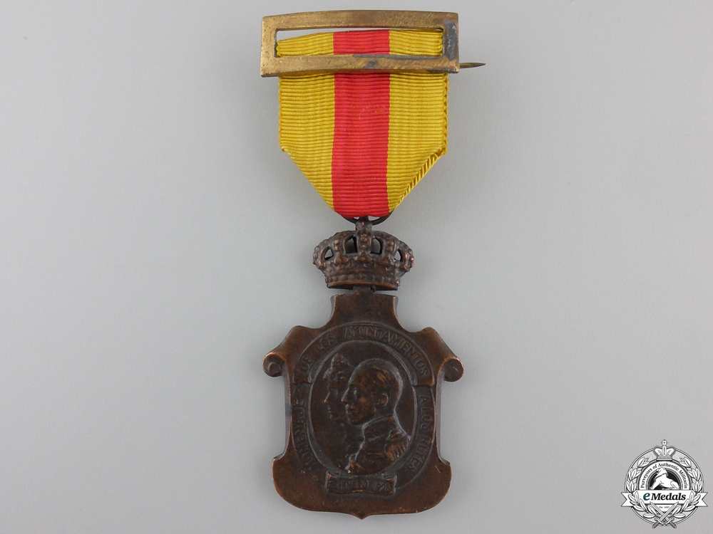 eMedals-A 1925 Spanish Homage to the Royal Family Medal