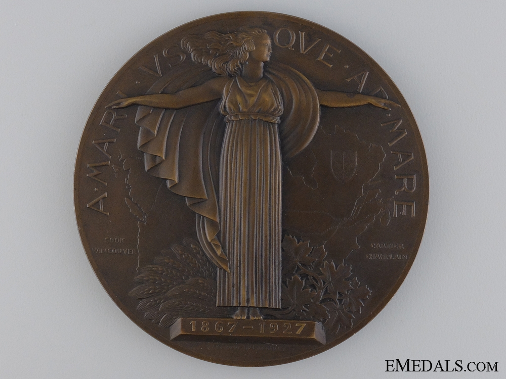 eMedals-A 1927 60th Anniversary of Canadian Confederation  Table Medal