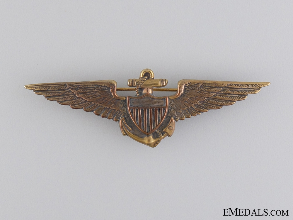 eMedals-A 1930's American Navy Fighter Pilot Tests Badge