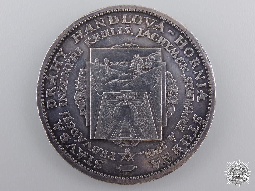 eMedals-A 1930 T.G. Masaryk-Bralsky Railway Tunnel Medal