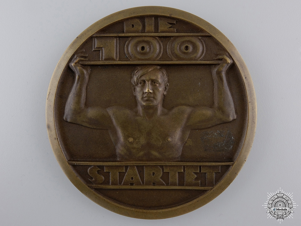 eMedals-A 1934 Sports Fest Table Medal of the 100th SA Standarte Dresden