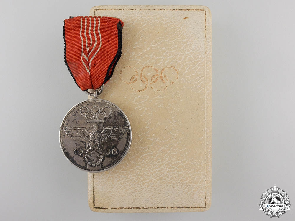 eMedals-A 1936 Berlin Summer Olympic Games Medal with Case