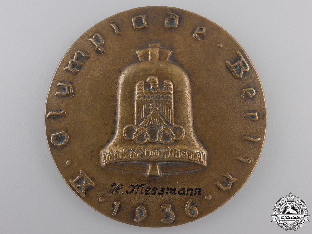 eMedals-A 1936 German Olympic Games Medal